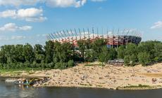 Atrakcje w Warszawie: Praga Północ - plaża przy Moście Poniatowskigo
