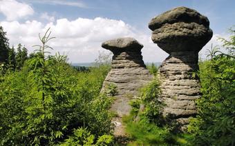 Czechy: skalne miasto. Skały bromovskie