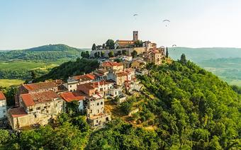 Miejscowość Motovun w samym sercu Istrii
