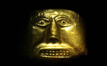 Złota maska z Muzeum Złota w Bogocie