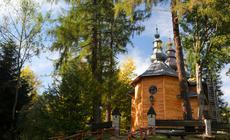 XVIII-wieczna cerkiew. Jedna z atrakcji Krynicy Zdroju