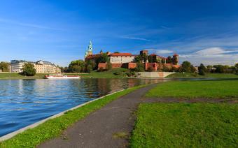 Trasa rowerowa wzdłuż Wisły w Krakowie