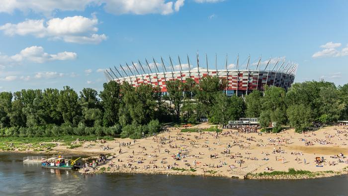 Plaże w Warszawie: plaża 'Poniatówka'