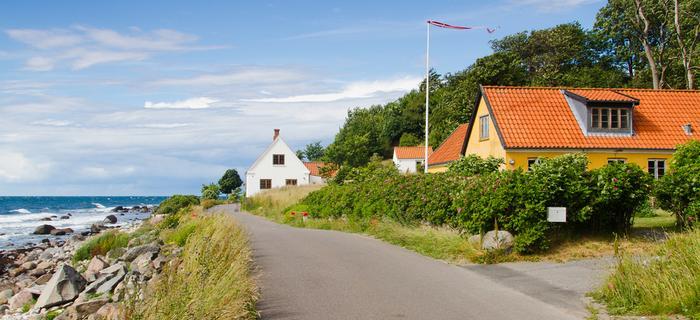Trasa rowerowa w pobliżu Hasle i Jons Kapel