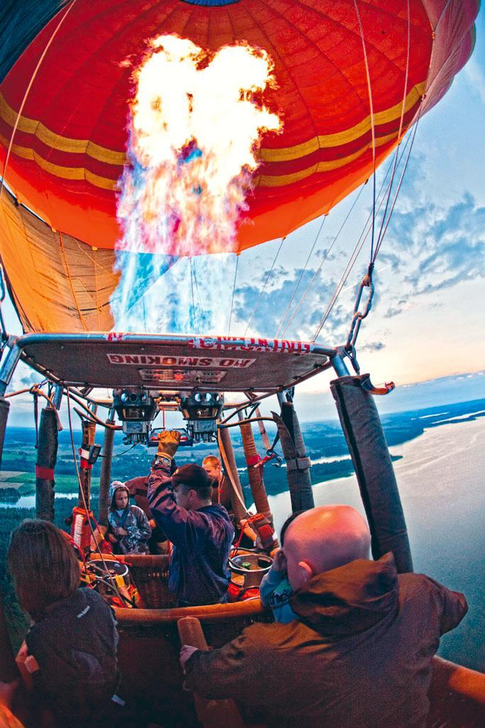 Lot balonem nad Mazurami