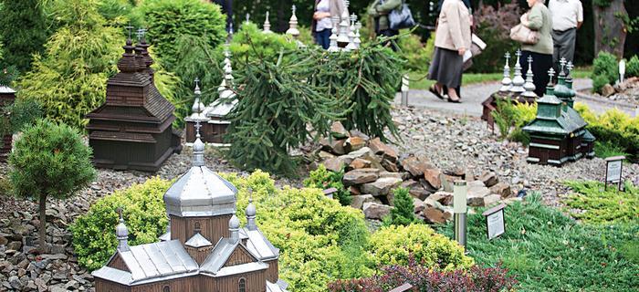 Bieszczady: Park miniatur w Orelcu