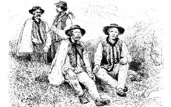 Górale podhalańscy. Rycina z 1881 roku