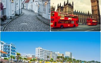 Londyn, Stavanger, Larnaka