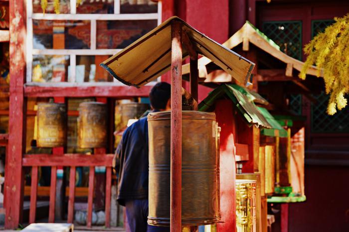 Pełen barw klasztor Gandan.