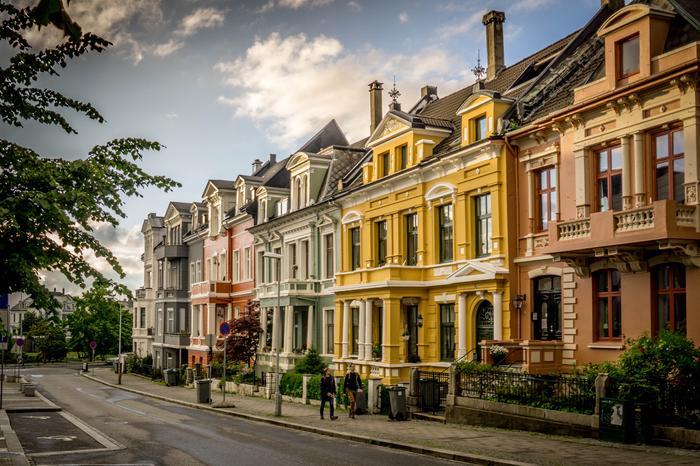 Bergen to nie tylko drewniane domki to również piękna secesyjna architektura