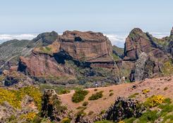 Panorama górska przy Pico de Arieiro