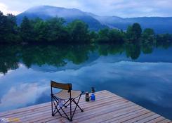 Mo2oXplorers / Bośnia i Herzegovina - Poranna kawa nad rzeką Uną.