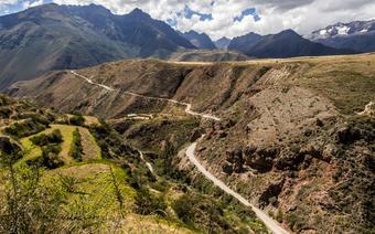 Widok na szlak w Andach