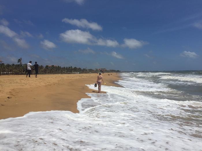 Kasia na plaży Negombo