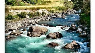 Rzeki z topniejącą z lodowców wodą