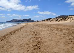 Rozległa, szeroka i długa plaża Porto Santo