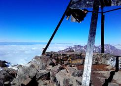Jebel Toubkal - wodok ze szczytu na pasmo Atlasu