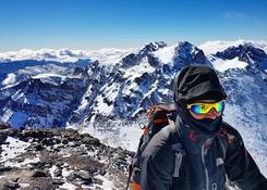 Zimowe wejście na Jabal Tubkal w Afryce - Szczyt Jabal Tubkal 4167 npm