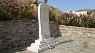 Pomnik ku pamięci poległych górników w Megalo Livadi