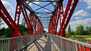 Most tylko dla rowerów w Czarnym Dunajców