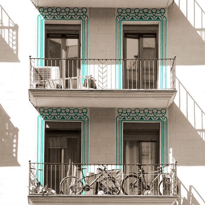 Fasada budynku w Barcelonie