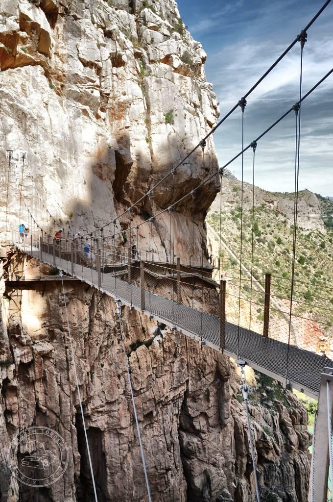 Most linowy na trasie El Caminito