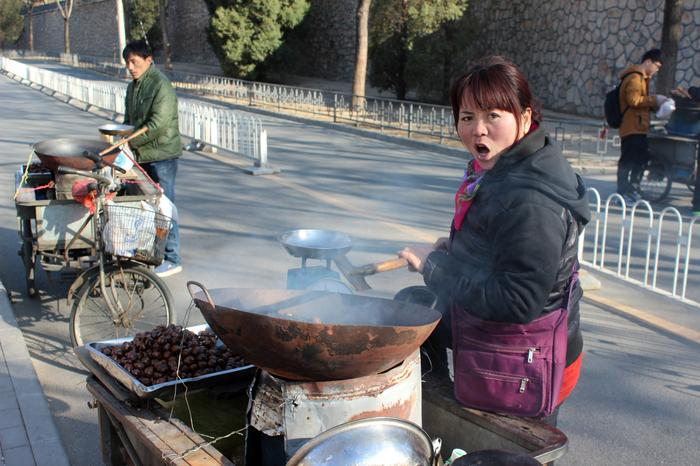 Gorące kasztany najlepsze w Pekinie