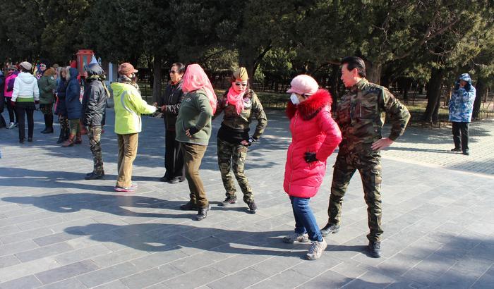Szkoła tańca na pekinńskiej ulicy