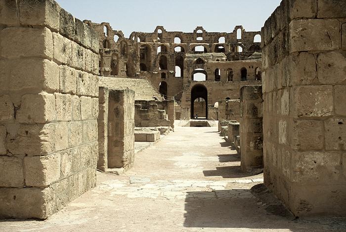 El Djem - fragment amfiteatru