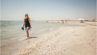 plaża - jedna z nielicznych w Rumunni