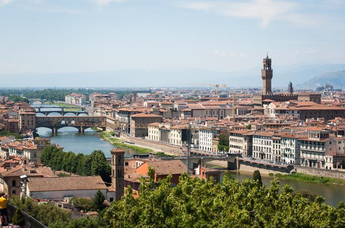 Widok na Ponte Vecchio