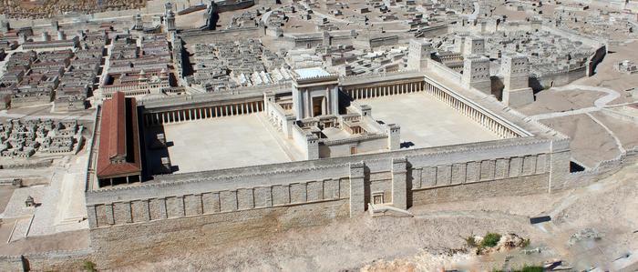 Jerozolima w I wieku ne - Makieta w skali 1:60 przed MuzeuM Izraela