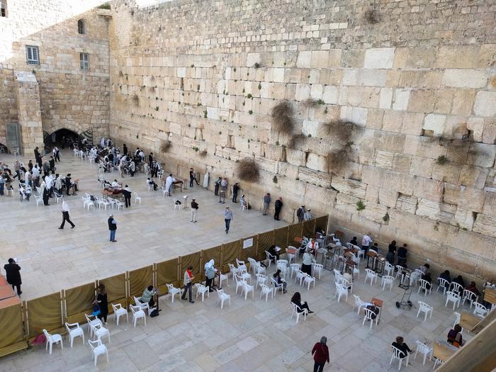 Mur płaczu, resztki murów Jerozolimy Heroda