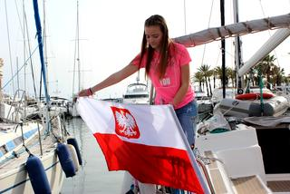Kalinka Kapitanka na morzu - flaga i bandera na morzu