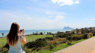 W tle sławna skała Gibraltarska, a wszystko trzy tygodnie temu