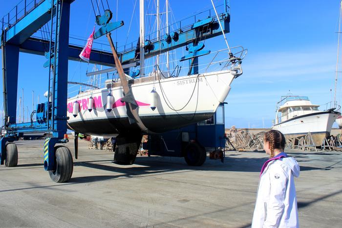 Nasz jacht trafił na serwis wiosenny i montaż nowych urządzeń