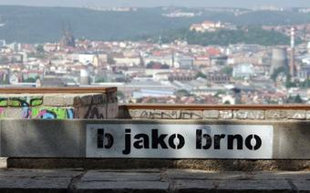 Widok na Brno z Białej Góry