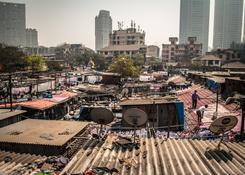 Na dachu Dhobi Ghat