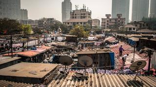 Bombaj (Indie) – Dhobi Ghat – na dachu pralni