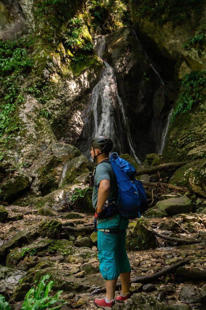 Wodospad, ferrata Rio Sallagoni