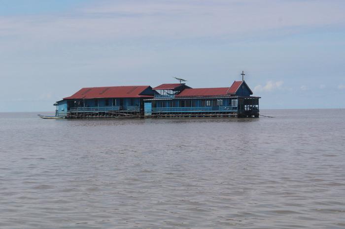 Kosciół na wodzie - Kambodża