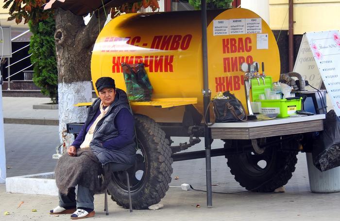 Sprzedaż kwasu chlebowego w stolicy Gagauzji
