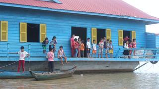 Szkoła na wodzie - przerwa między lekcjami