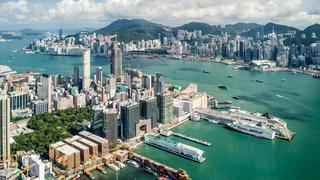 Hongkong, widok z 100ego piętra tarasu sky100