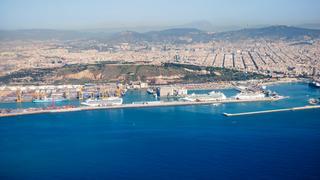 Barcelona, widok z samolotu