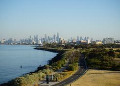Widok na Melbourne z Point Ormond