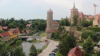 Widok na stare miasto z mostu nad Sprewą
