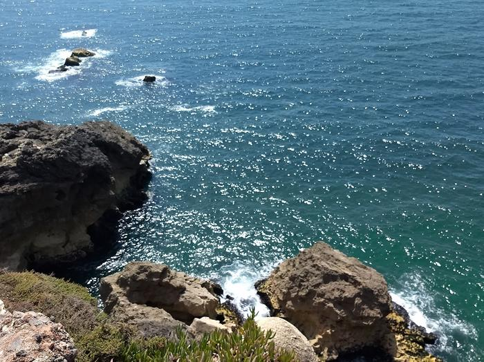 Widok na wody oceanu.
