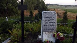 Krzyż i tablica upamiętniająca bitwę pod Kodziowcami