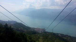 Jezioro Garda, widok z kolejki na Monte Baldo